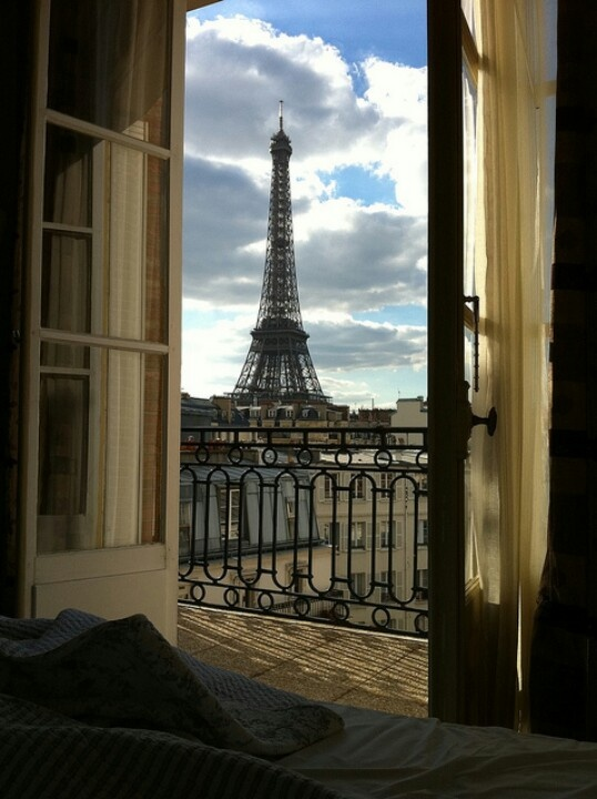 View from the window in Paris: Riffle Tower.